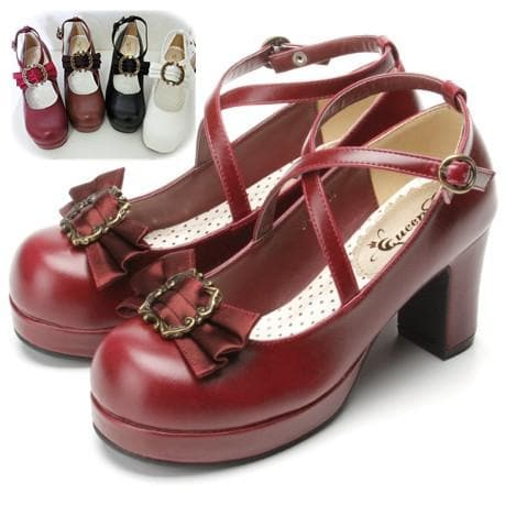 4 colors Lolita Princess Bow Shoes SP153553 - SpreePicky  - 1
