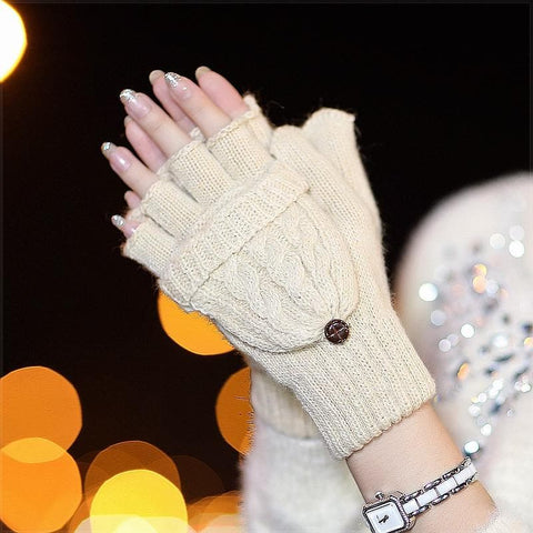 5 Colors Adorable Winter Knitted Gloves SP154064