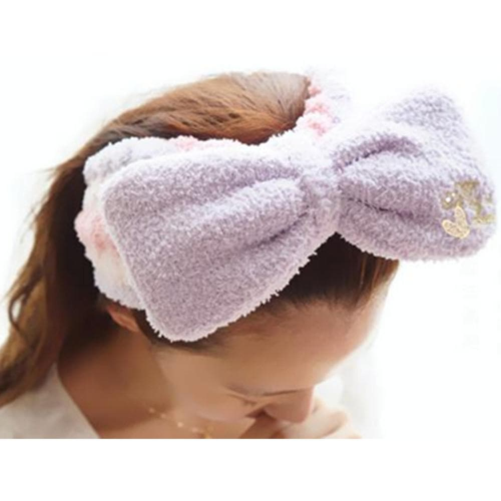 6 Colors Big Bow Fleece Hair Band For Make Up SP164927 - SpreePicky  - 1