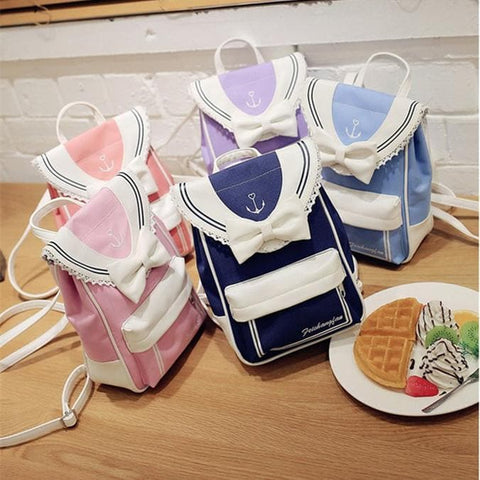 5 Colors Kawaii Harajuku Sailor Canvas Backpack SP178832