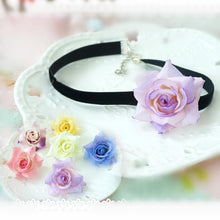 Load image into Gallery viewer, 5 Colors Kawaii Rose Choker/ Bracelet/ Anklet with Rose SP164998