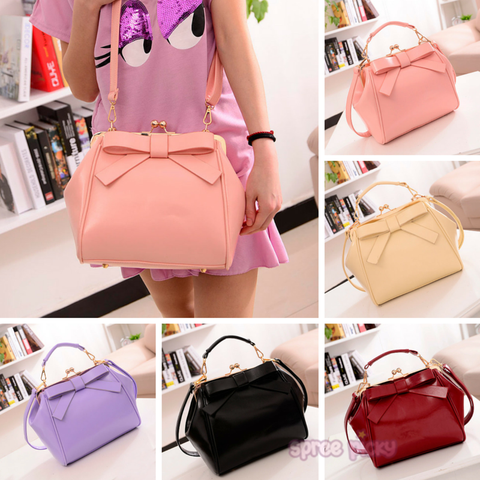 5 Colors Sweet Bowknot Hand Bag/Shoulder Bag SP165204