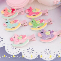 6 Colors Cutie Horse Hair Clip SP153783 - SpreePicky  - 1