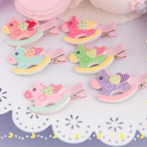 6 Colors Cutie Horse Hair Clip SP153783