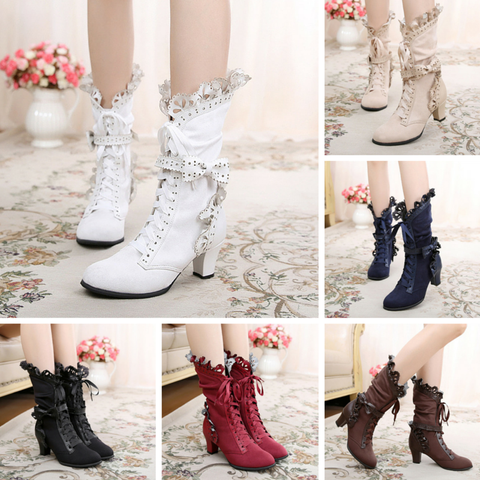 6 Colors Lolita Kawaii Bowknot Short Boots SP164982