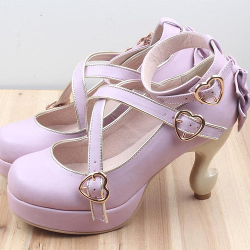 6 Colors Lolita Table Leg High Heels Platform Shoes SP154528 - SpreePicky  - 1