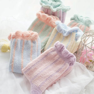 6 Colors Pastel Candy Fleece Socks SP164905 - SpreePicky  - 1