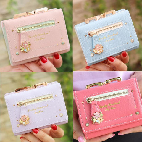 7 Colors Cutie Short Wallet Purse SP153526 - SpreePicky  - 1
