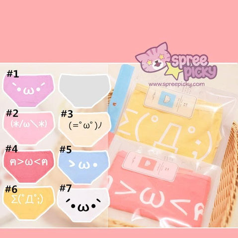 7 Colors S/M/L Kawaii Emoji Printing Undies SP168188