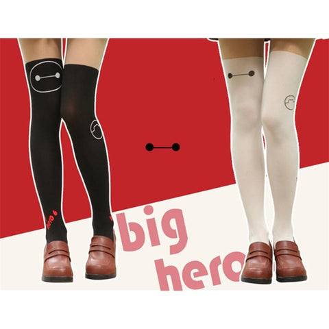 Black/White Big Hero Baymax Fake Over Knee Thigh High SP152794 - SpreePicky  - 1
