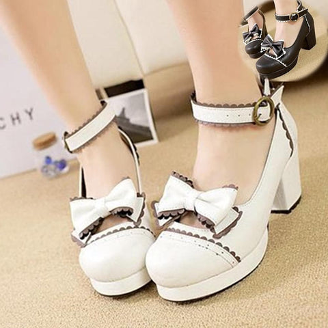 Black/White [Want a Date] Shoes SP153552