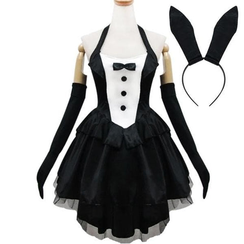 Black Gorgeous Forked Tail Bunny Dress Cosplay Costume SP153688 - SpreePicky