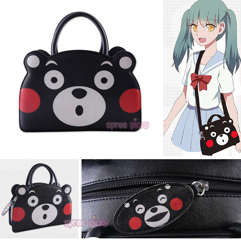 Black Kawaii Kumamon Handbag SP165398