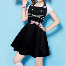 Load image into Gallery viewer, Black Lolita Kawaii Kitty Cat Apron SP165910