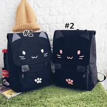 Load image into Gallery viewer, Black Smiley Neko Backpack SP178723