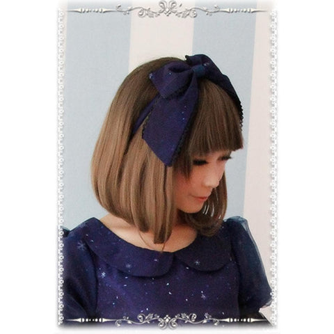 Blue/Navy Lolita Frozen Snow Carstal KC Hair Accessory SP164838
