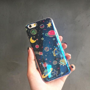 Blue Galaxy Planets Phone Case for Iphone 6/6S/Plus SP165227 Kawaii Aesthetic Fashion - SpreePicky