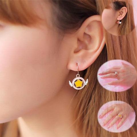 Card Captor Sakura Earrings/Ring SP153283 - SpreePicky