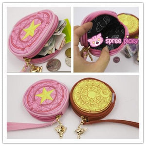 Pink/Red Card Captor Sakura Little Coin Purse SP153265 - SpreePicky  - 1
