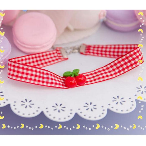 Cherry Ribbon Choker SP153787 - SpreePicky  - 1
