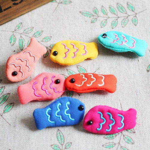 Colourful Japanese Style Mori Girl Kawaii Fish Embroidery Pin Brooch SP154039 - SpreePicky  - 1