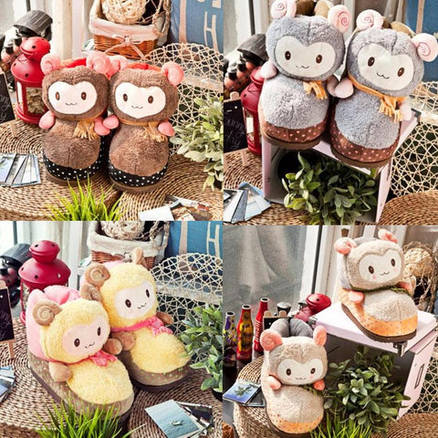 Cutie Alpaca Couple Slippers Shoes SP153522 - SpreePicky  - 1