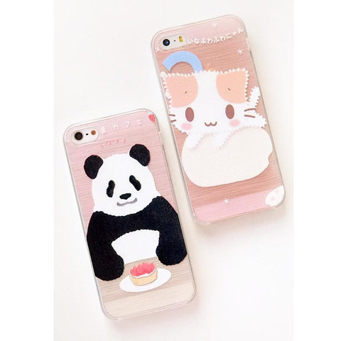 Cutie Panda and Kitty Iphone Case SP153029 - SpreePicky  - 1