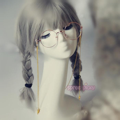 Golden/Silver/Black Metal Glasses with Lolita Cross Chain SP165744