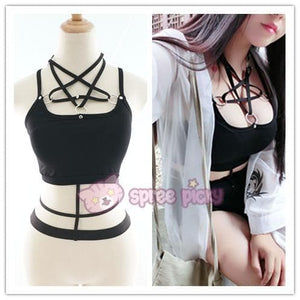 Gothic Magic Star Tube Top Shirt SP152946 - SpreePicky  - 1