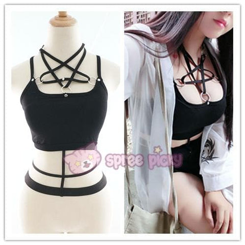Gothic Magic Star Tube Top Shirt SP152946
