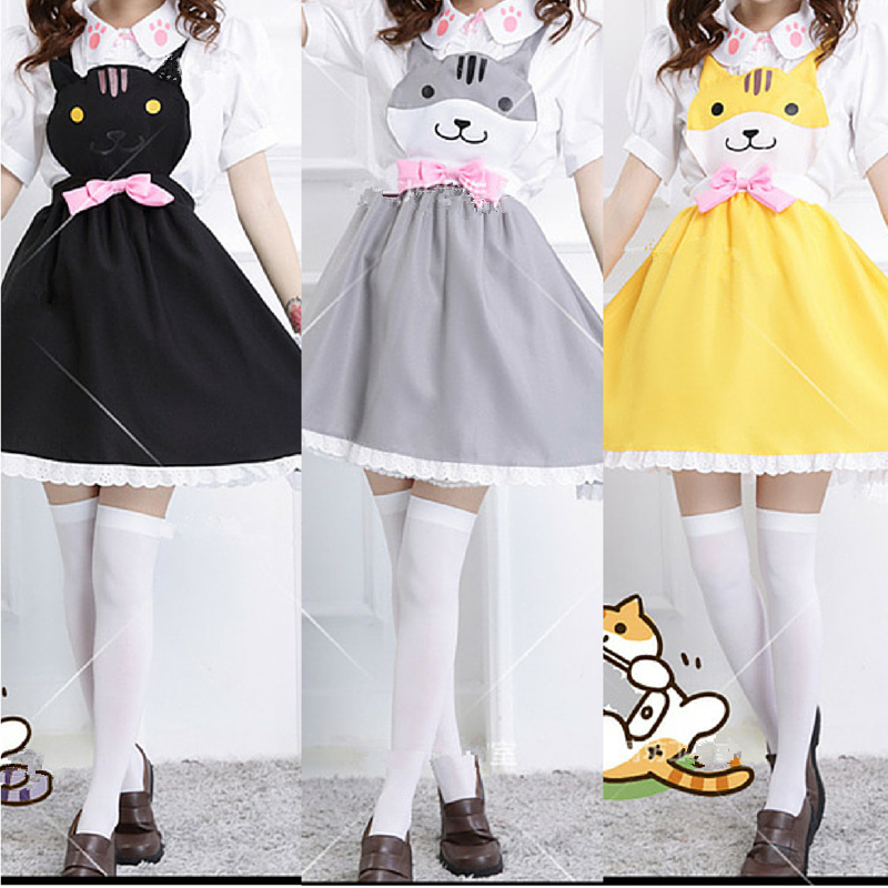 Grey/Yellow/Black Cutie Kitty Dress SP154458 - SpreePicky  - 1