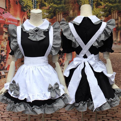 Grey Black Dress Maid Cosplay Costume SP153600 - SpreePicky  - 1
