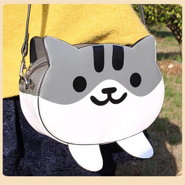 Neko Atsume GreyCat PU Bag SP164825 - SpreePicky  - 1