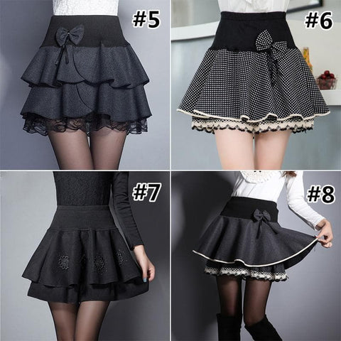 High Waist Lace Bubble Skirt SP179676