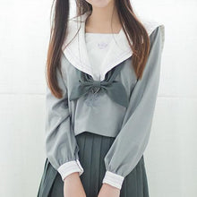 Load image into Gallery viewer, Japanese Grey Sailor Uniform Top SP164937 - SpreePicky  - 1