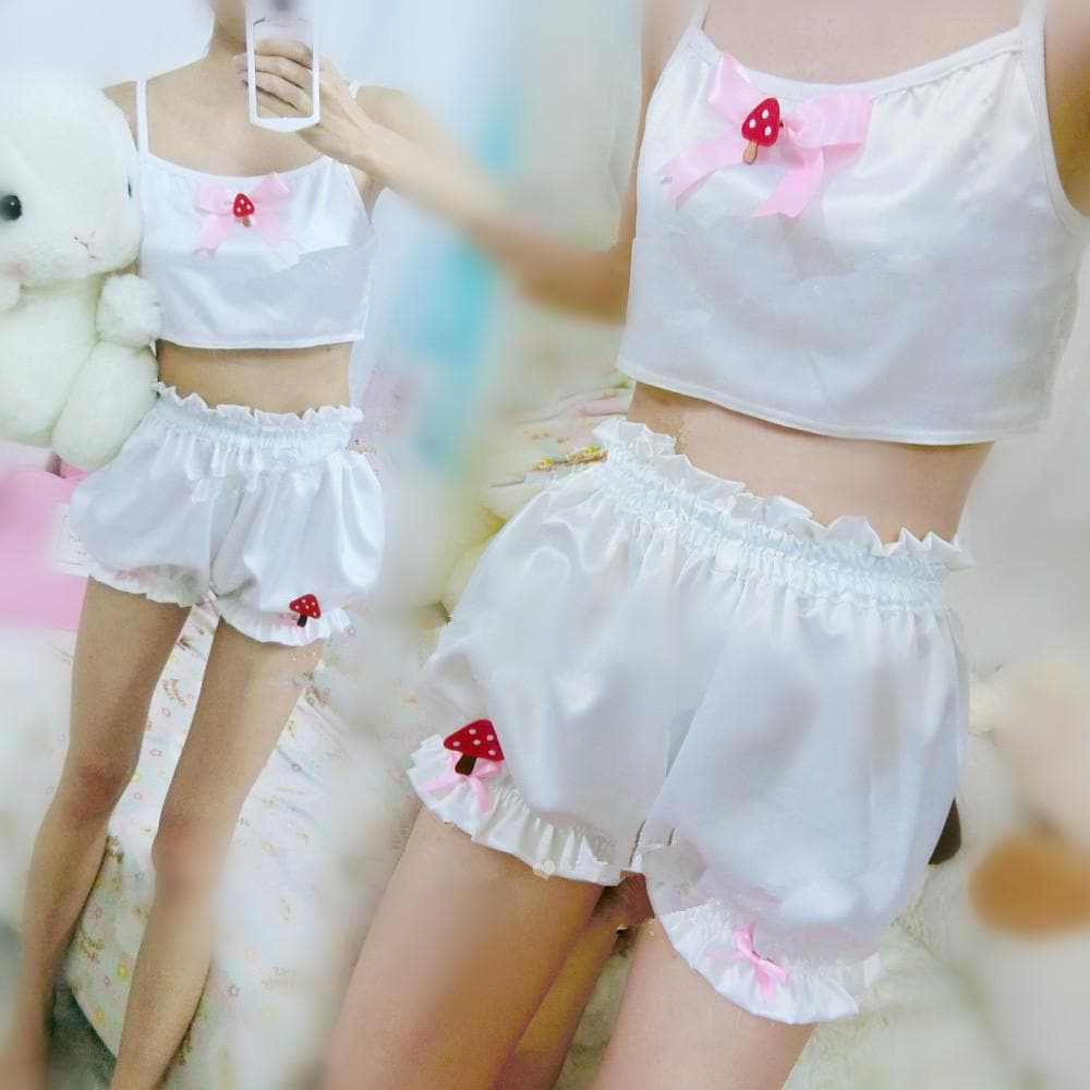 Kawaii Home Wear With Bowknot and Mushroom SP164999