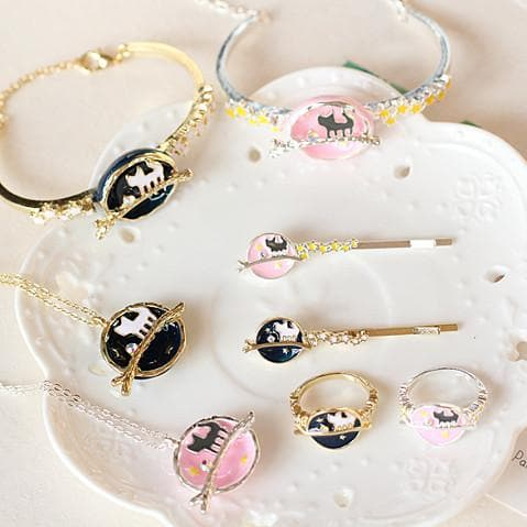 Kawaii Kitty Hair Clip/Ring/Bracelet/Necklace SP179698