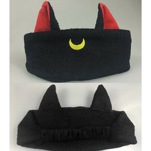 Load image into Gallery viewer, Kawaii Sailor Moon Luna Black Hairband SP165681