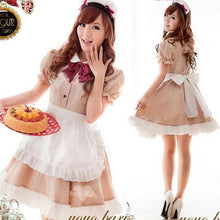 Load image into Gallery viewer, Khaki Coffee Cafe Maid Dress SP141205 - SpreePicky  - 1