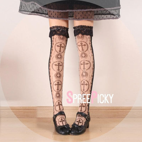 Lolita Cross Stocking Socks SP179517