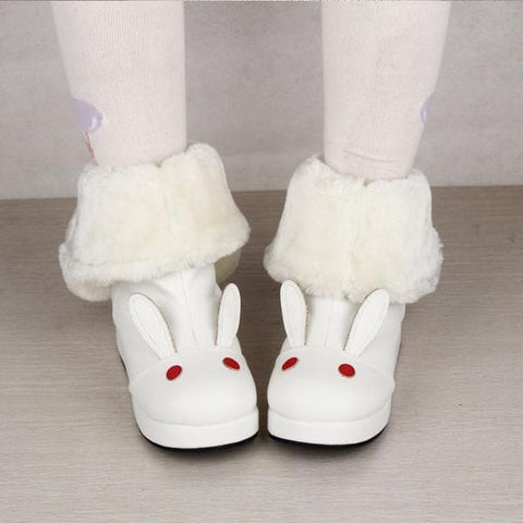 Lolita Kawaii Rabbit Snow Boots with Bowknot SP165020