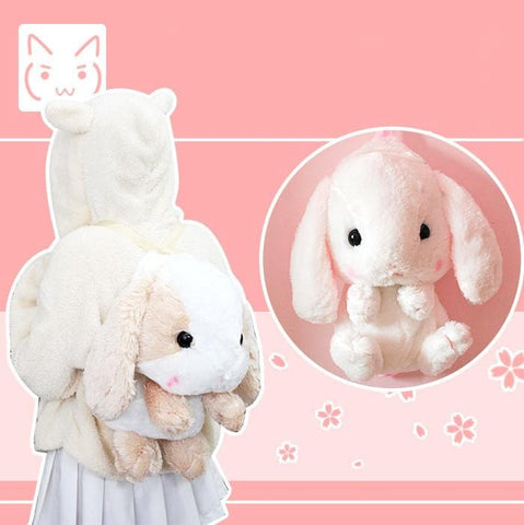 Lolita Lop-ear Rabbit Plush Backpack SP164874 - SpreePicky  - 1