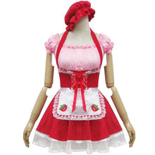 Load image into Gallery viewer, Lolita Miss Pinky Strawberry Maid Dress with Apron SP153692 - SpreePicky  - 1