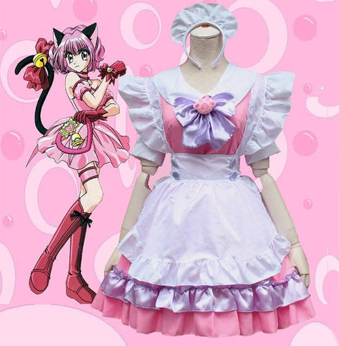 M-L Pinky Candy Neko Cat Maid Dress  Cosplay Costume SP153589 - SpreePicky  - 1
