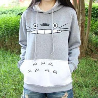 M-XXL Totoro Hooded Sweater SP153658 - SpreePicky  - 1