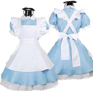 M/L [Alice In Wonderland] Blue Maid Dress With Apron Cosplay Costume SP141195 - SpreePicky  - 5