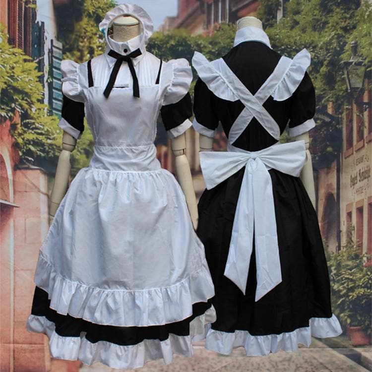 M/L [Love Live] Sonoda Umi Maid Dress Cosplay Costume SP153595 - SpreePicky  - 1