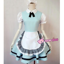 Load image into Gallery viewer, M/L Pastel Blue Lolita Maid Dress Cosplay Costume SP153557 - SpreePicky  - 1