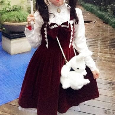 M/L Wine Lolita Demitoilet JSK Dress SP164767 - SpreePicky  - 1