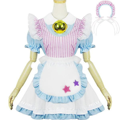 Miss Jingle Bell Caff Maid Dress Cosplay Costume SP153691